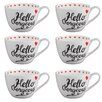 Portobello by Inspire Wilmslow Hello Gorgeous Bone China Mug (Set of 6)