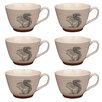 Portobello by Inspire Stafford Wildlife Squirrel Stoneware Mug (Set of 6)