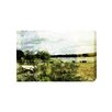 Andrew Lee CountrySide Vintage Cow Art Print Wrapped on Canvas