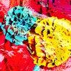 """Andrew Lee Leinwandbild """"Flower Roses"""" von Andrew Lee, Grafikdruck"""