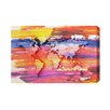 Andrew Lee Maps and Flags Painty Map by Andrew Lee Art Print Wrapped on Canvas