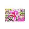 """Andrew Lee Leinwandbild """"Pink Flower"""" von Andrew Lee, Grafikdruck"""