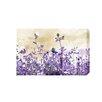 """Andrew Lee Leinwandbild """"Flower Purple"""" von Andrew Lee, Grafikdruck"""