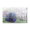 "Andrew Lee Leinwandbild ""London Bus Blue Rear"" von Andrew Lee, Grafikdruck"
