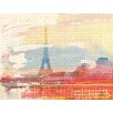 Andrew Lee French Hessian Paris by Andrew Lee Graphic Art on Canvas