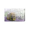 Andrew Lee London Bus Rear Yellow Graphic Art Wrapped on Canvas