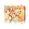 "Andrew Lee Leinwandbild ""Maps and Flags Square World"" von Andrew Lee, Kunstdruck"