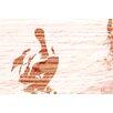 Andrew Lee Leinwandbild Gold Puffin, Grafikdruck