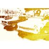 Andrew Lee 'Gold Cool Cars' Graphic Art Wrapped on Canvas