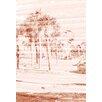 Andrew Lee Leinwandbild Gold Bronze Palm, Grafikdruck