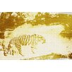 Andrew Lee 'Gold Golden Tiger' by Andrew Lee Graphic Art Wrapped on Canvas
