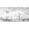 Andrew Lee 'Gold San Fran' Graphic Art Wrapped on Canvas