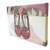 "Andrew Lee Fashion ""Lips Shoes"" by Andrew Lee Art Print Wrapped on Canvas"