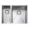 Rangemaster Sink & Taps Kube 58 x 43cm Kitchen Sink in Stainless Steel