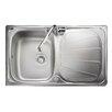 Rangemaster Sink & Taps Baltimore 80cm x 50.8cm Stainless Steel Reversible Kitchen Sink