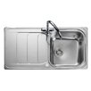 Rangemaster Sink & Taps Houston 98.5cm x 50.8cm Stainless Steel Kitchen Sink