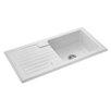Rangemaster Sink & Taps Farmhouse 100cm x 50cm Ceramic Reversible Kitchen Sink