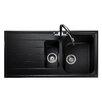 Rangemaster Sink & Taps Amethyst 100cm x 50cm Igneous Bowl Kitchen Sink