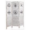 Geese 170cm x 135cm Wooden 3 Panel Room Divider