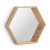 Geese Wooden Hexagonal Mirror