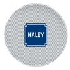 "Boatman Geller Herringbone Block 10"" Personalized Melamine Plate"