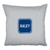 Boatman Geller Herringbone Block Personalized Cotton Throw Pillow