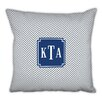 Boatman Geller Herringbone Classic Monogram Cotton Throw Pillow