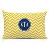 Boatman Geller Chevron Classic Monogram Cotton Lumbar Pillow