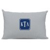 Boatman Geller Herringbone Classic Monogram Cotton Lumbar Pillow