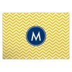 Boatman Geller Chevron Single Initial Fabric Placemat