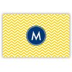 Boatman Geller Chevron Single Initial Laminated Placemat