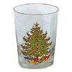 Cuthbertson Original Christmas Tree 15 Oz. Double Old Fashioned Glass (Set of 4)