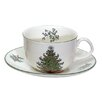 Cuthbertson Original Christmas Tree Traditional Teacup and Saucer (Set of 4)