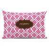 Dabney Lee Lucy Block Personalized Cotton Lumbar Pillow