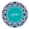 "Whitney English Designer Lattice Script 10"" Personalized Melamine Plate"