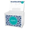 Whitney English Designer Lattice Script Personalized Recipe Box