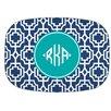 Whitney English Designer Lattice Diamond Monogram Melamine Plate