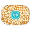 Whitney English Lizard Diamond Monogram Melamine Plate