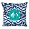 Whitney English Designer Lattice Diamond Monogram Cotton Throw Pillow