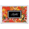 Whitney English Chinois Script Personalized Lucite Tray