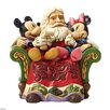 Disney Traditions Christmas Wishes Santa with Mickey and Minnie Mouse Figurine
