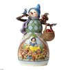 Disney Traditions Hi Ho Holidays Snowman with Snow White Scene Figurine