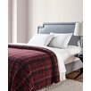 VCNY Durham Plaid Printed Sherpa Reversible Blanket