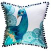 VCNY Diana Peacock Cotton Throw Pillow