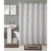VCNY Trisha 3 Piece Shower Curtain Set