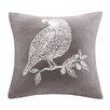 Madison Park Bird Embroidered Throw Pillow