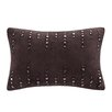 Madison Park Stud Oblong Suede Lumbar Pillow