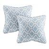 Madison Park Delray Diamond Printed Throw Pillow (Set of 2)