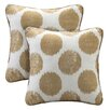 Madison Park Maru Printed Dot Square Throw Pillow (Set of 2)