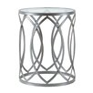 Madison Park Arlo Metal Eyelet End Table